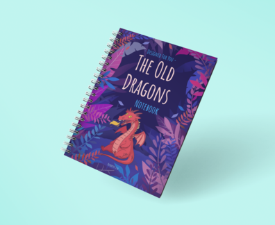 the old dragon spiral notebook
