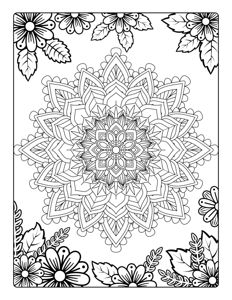 Love Life Blossom - Mandala Coloring For Zen: Stress Relieving Mandala And Floral Garden Designs For Adults Meditative Relaxation And Mindfulness