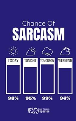 Chance Of Sarcasm Thermometer Notebook Journal For Work Gift For Family