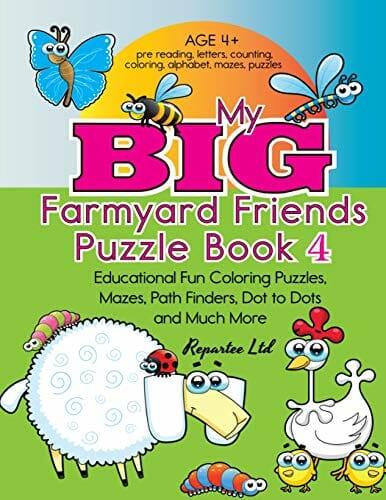 My Big Farmyard Friends Puzzle Book 4 Educational Fun Coloring Puzzles