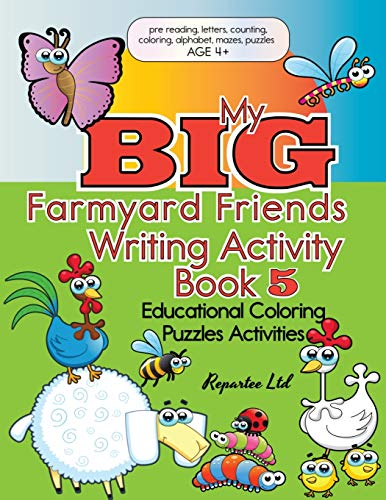 My Big Farmyard Friends Writing Activity Book 5 Educational Coloring